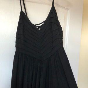 Urban black sun dress coverup